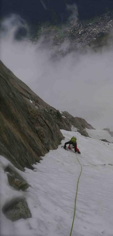Frendo Spur, Aiguille du Midi North Face, Chamonix