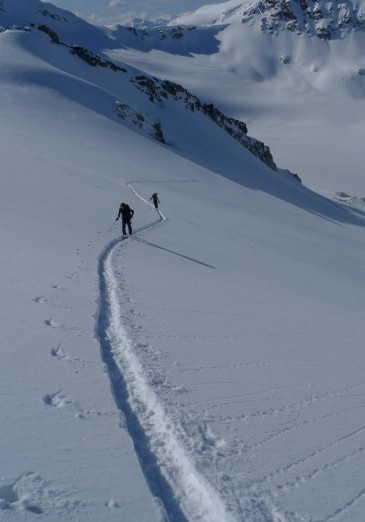 Blackcomb ski touring
