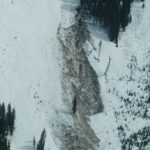 Avalanche that took out mature timber