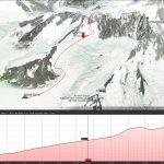 Track from Regal Dome Mt Waddington to the Summit of Mt. Waddington