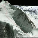 Route up Mt. Waddington NW Summit