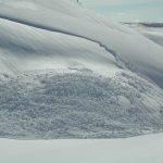Shiny surface hoar avalanche