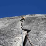 Final pitch of Sunshine Cracks, Snowpatch spire