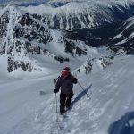 Boot packing up Mount Matier