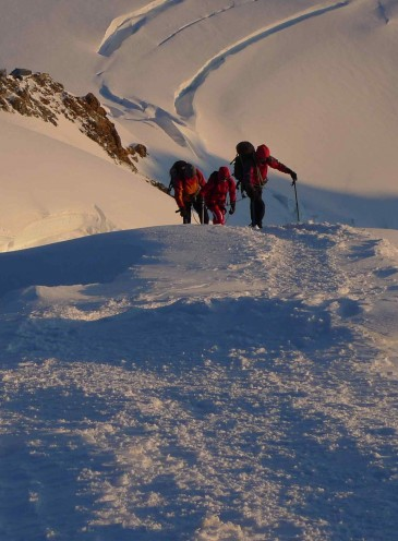Mont Blanc - Summit ridge