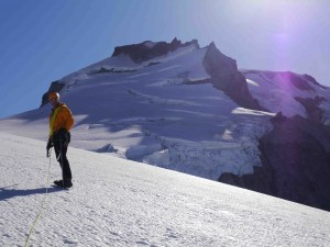 On route to the Summit of Mt. Garibaldi
