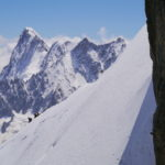Exiting the Aiguille Midi on Mont Blanc