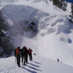 Point Lachenal and Tacul icefall