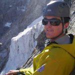 Crosby Johnston ACMG:IFMGA Mountain Guide on Frendo Spur Chamonix