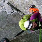 Kirsi Heiskanen rock climbing