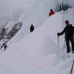 Burgschrund on Mt Robson Kain Face