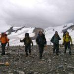 Hiking off Robson Glacier