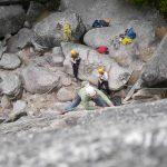 Eric rock climbing.