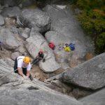 Dr. Nigel Aspinal rock climbing