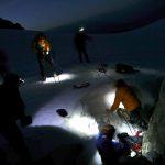 Night scenario at Haberl Hut Tatalus Range BC Canada