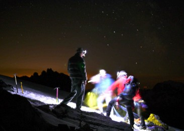 Night scenario in the Tantalus Range for Canadian Society of Mountain Medicine