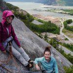 Climbing happy on Diedre