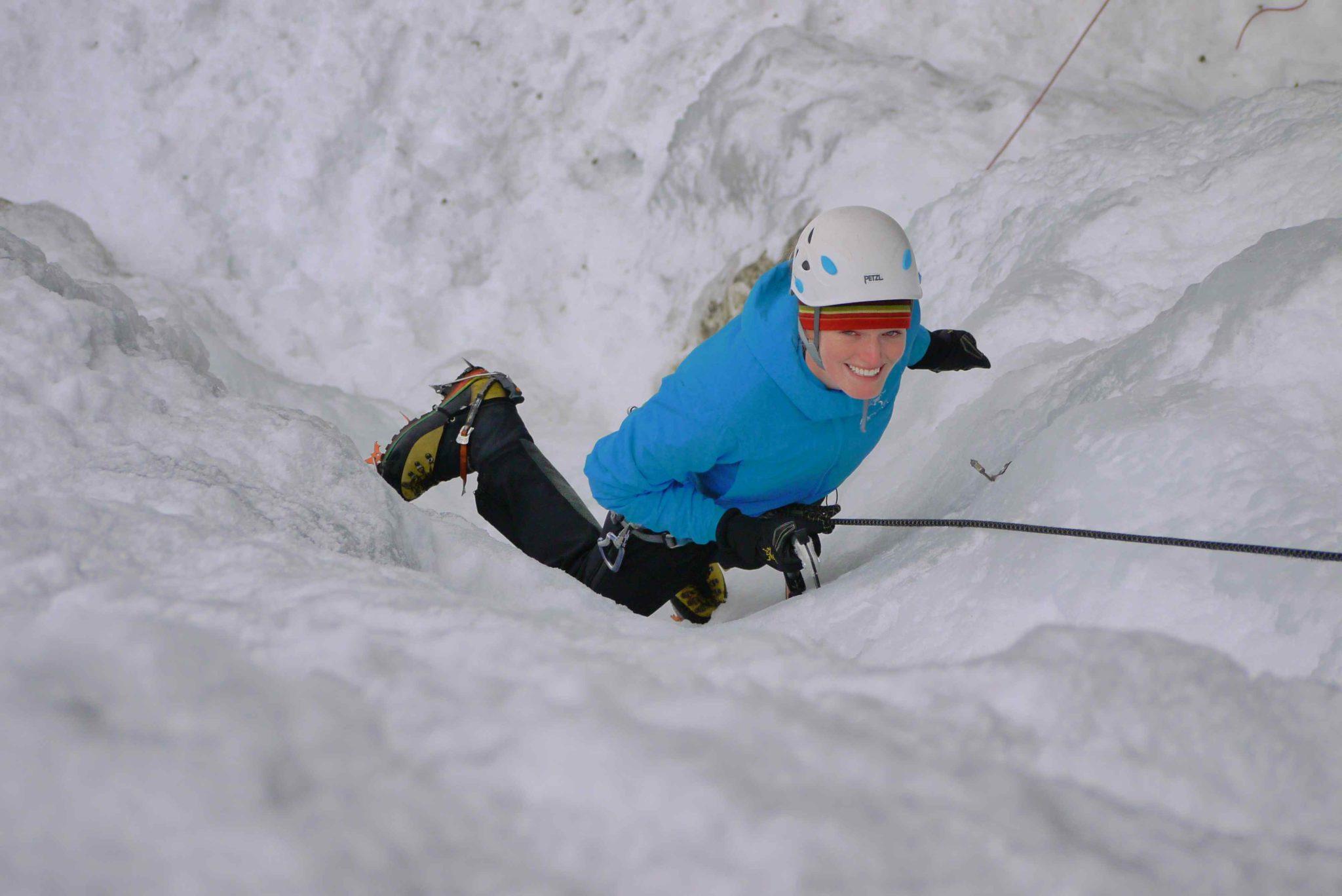 Helen's first Ice climb
