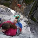 Busy day on Squamish Buttress - Squamish Rock Climbing