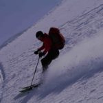 Skiing of Journeyman Peak Callaghan Valley - ALtus Mountain Guides