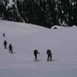Skiing up Journeyman Peak Callaghan Valley - ALtus MOuntain Guides