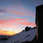 Haberl Hut majic sunset