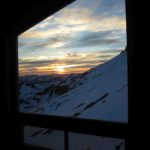 Sunset from the Jim Haberl Hut