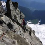 Our first pitch on the SE rib on Mount Tantalus