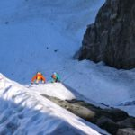 Starting up the West Face of Mount Serratus