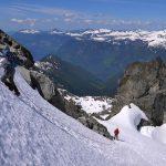 Heather Taking the lead to the summit of Mount Serratus