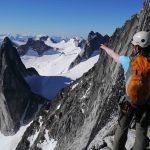 Climbing NE Ridge Of Bogaboo Spire