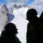 Climbing on Snowpatch Sprie Bugaboos BC