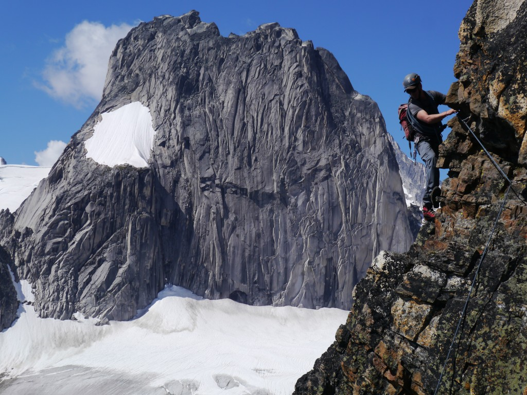 East Post Spire Bugaboos rock climbing