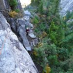 Squamish buttress 5.9 Multi pitch climbing