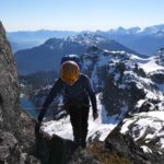 Looking toward vancouver, alpine climbing in Whistler