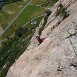Rock Climbing Italy - Aosta Valley - Diretta Al Banano pitch 9