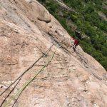 Rock Climbing Italy - Aosta Valley - Pitch 3 of Diretta Al Banano