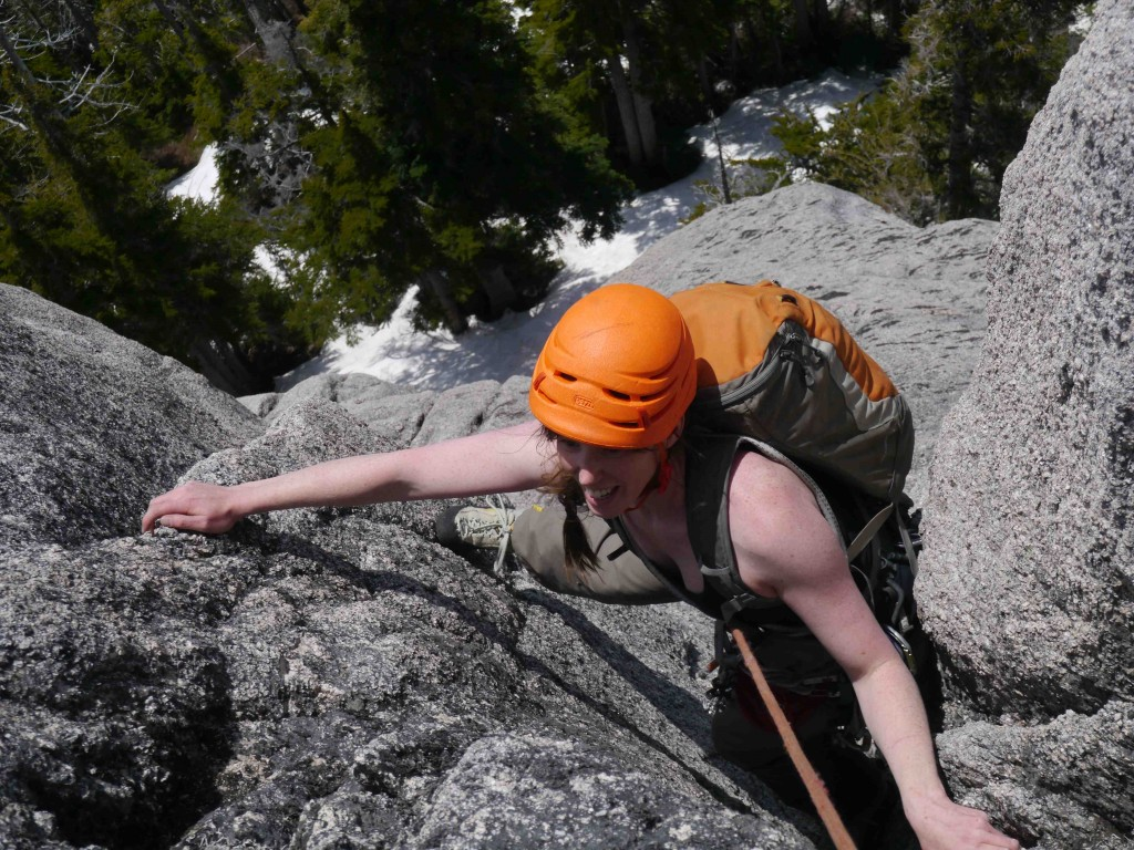 Climbing south face of Mt Habrich May 31, 2014
