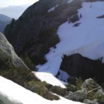 Looking down west face of Mt Habrich May 31 , 2014