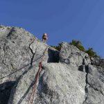 Looking up Mt Habrich west face Rappels
