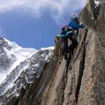 Climbing near the top