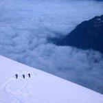 Skiiers on the Tacul