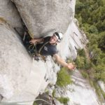 Solo aid climbing on U-Wall Squamish BC , Altus Mountain Guides Richard copy