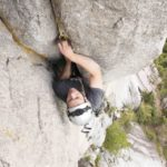 Solo aid climbing on U-Wall Squamish BC , Altus Mountain Guides pitch 1 copy