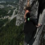 Kinley Aikten on Grand Wall Squamish 5.11a Perry's Layback