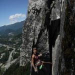 Kinley Aitken on Perry's Layback Squamish BC