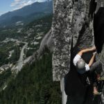Lonens on Grand Wall Squamish 5.11a Perry's Layback