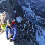 On Mt Victoria Alberta BC Border - Altus Mountain Guides