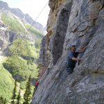 Rock Cliimbing Lake Louise