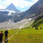 Approaching Mount Assiniboine North Ridge